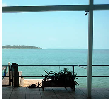 Million dollar view of the Caribbean Sea from Bocas Bay Villa
